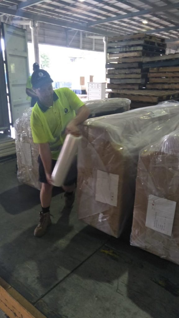 Shrink Wrapping Container Services - Container Loading Brisbane